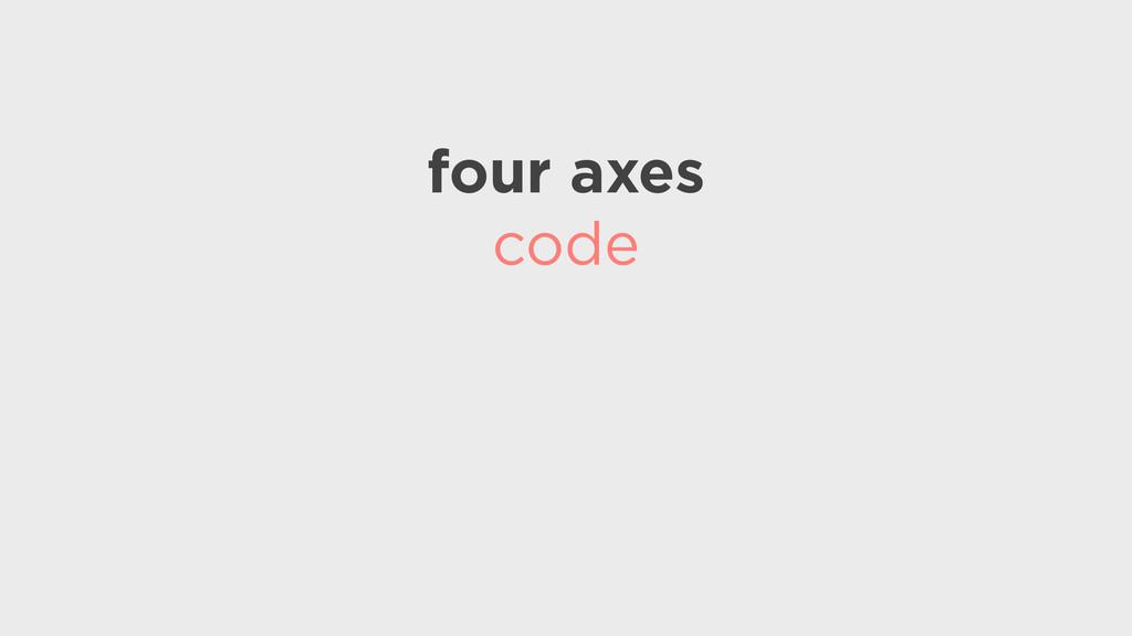 four axes code