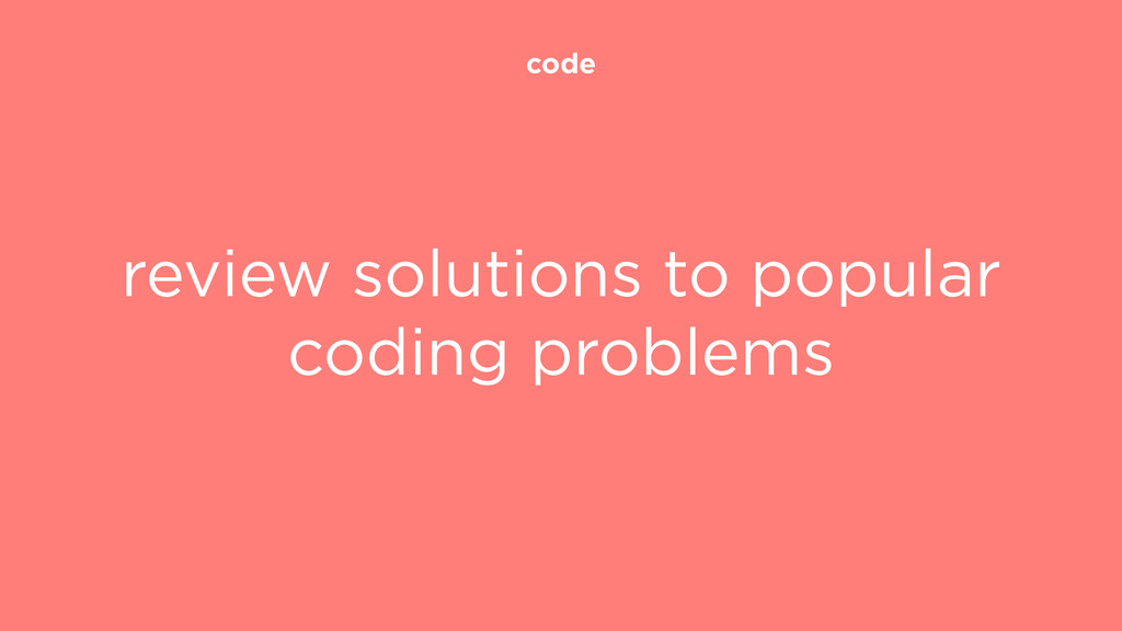 code review solutions to popular coding problems