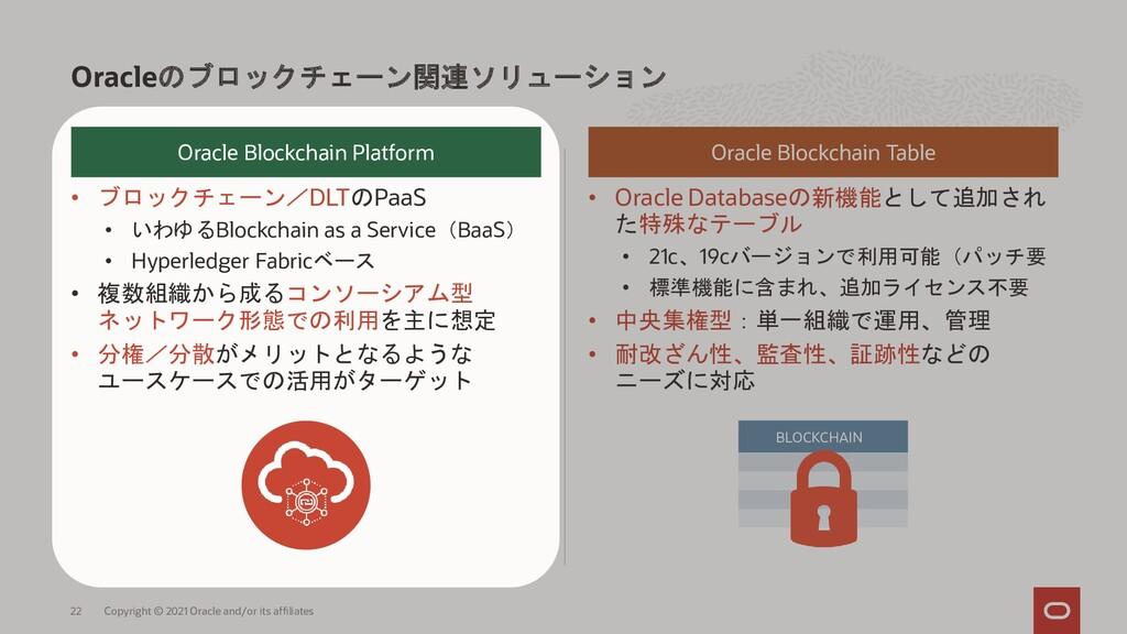 • ブロックチェーン/DLTのPaaS • いわゆるBlockchain as a Servi...