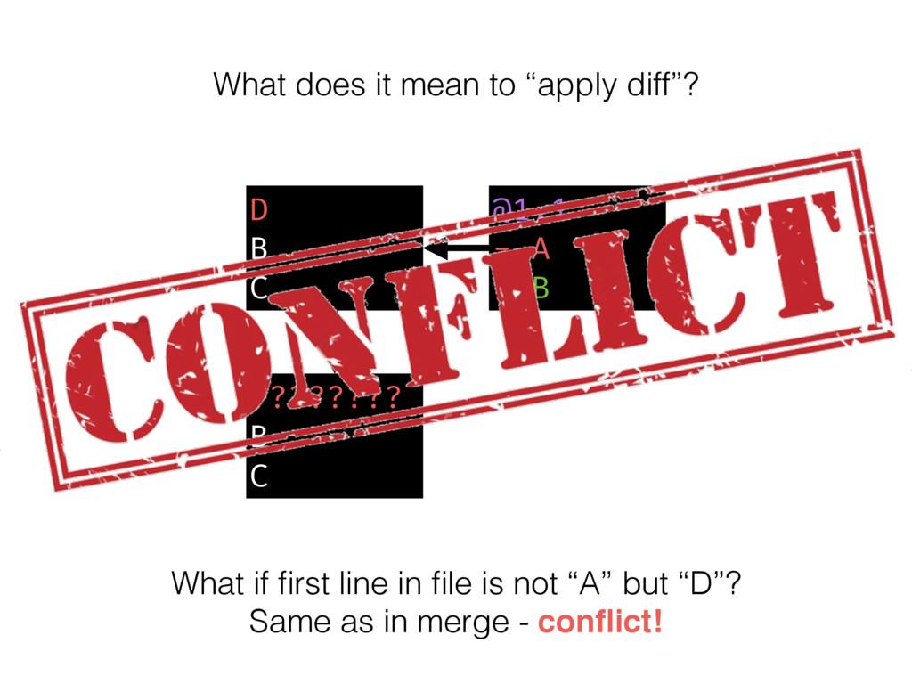 D B C @1,1 - A + B ???????? B C What if first li...
