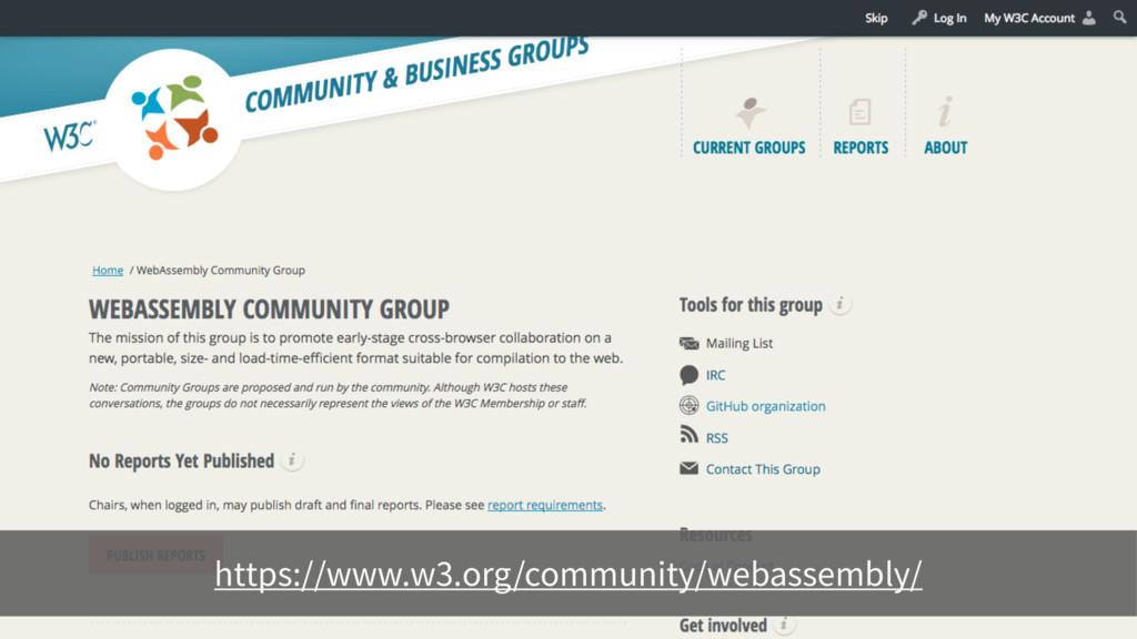 https://www.w3.org/community/webassembly/