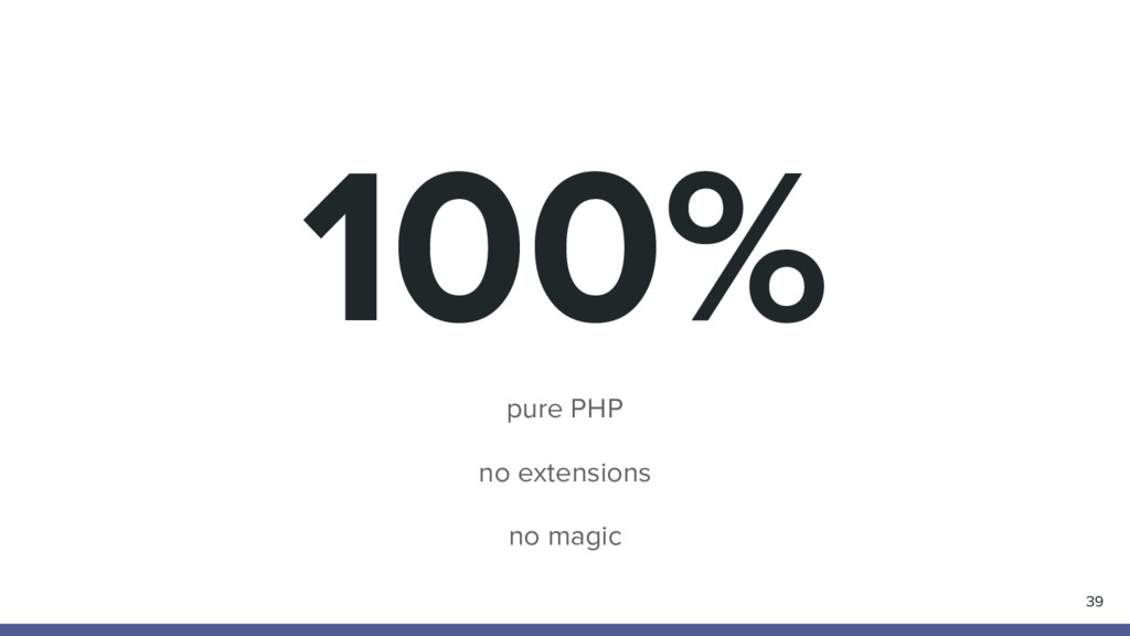100% pure PHP no extensions no magic 39