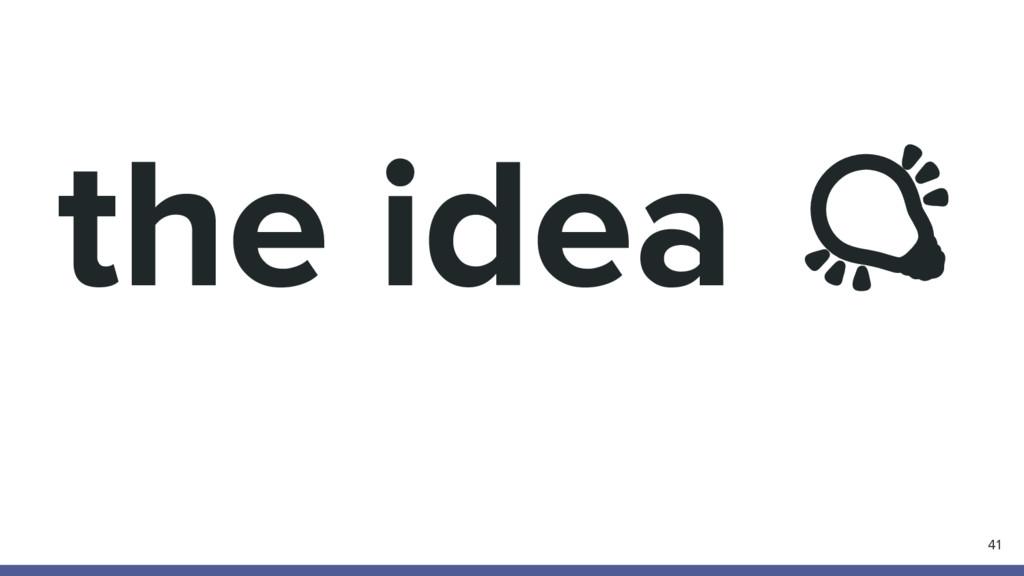 the idea 41