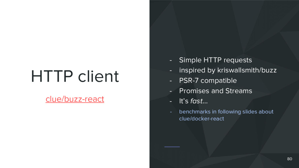 HTTP client 80 clue/buzz-react - Simple HTTP re...