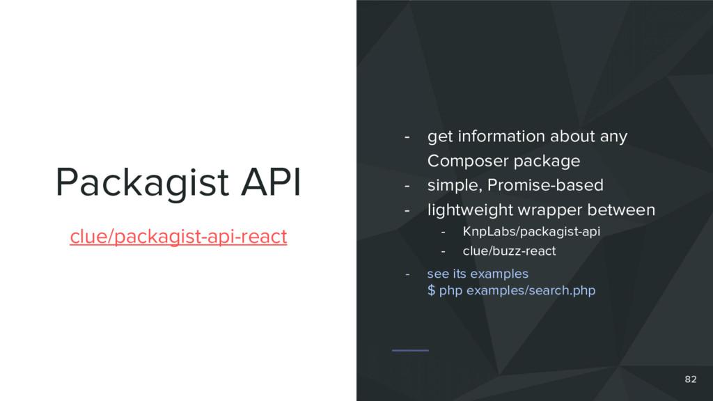 Packagist API clue/packagist-api-react - get in...