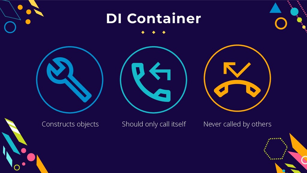 DI Container Should only call itself Never call...