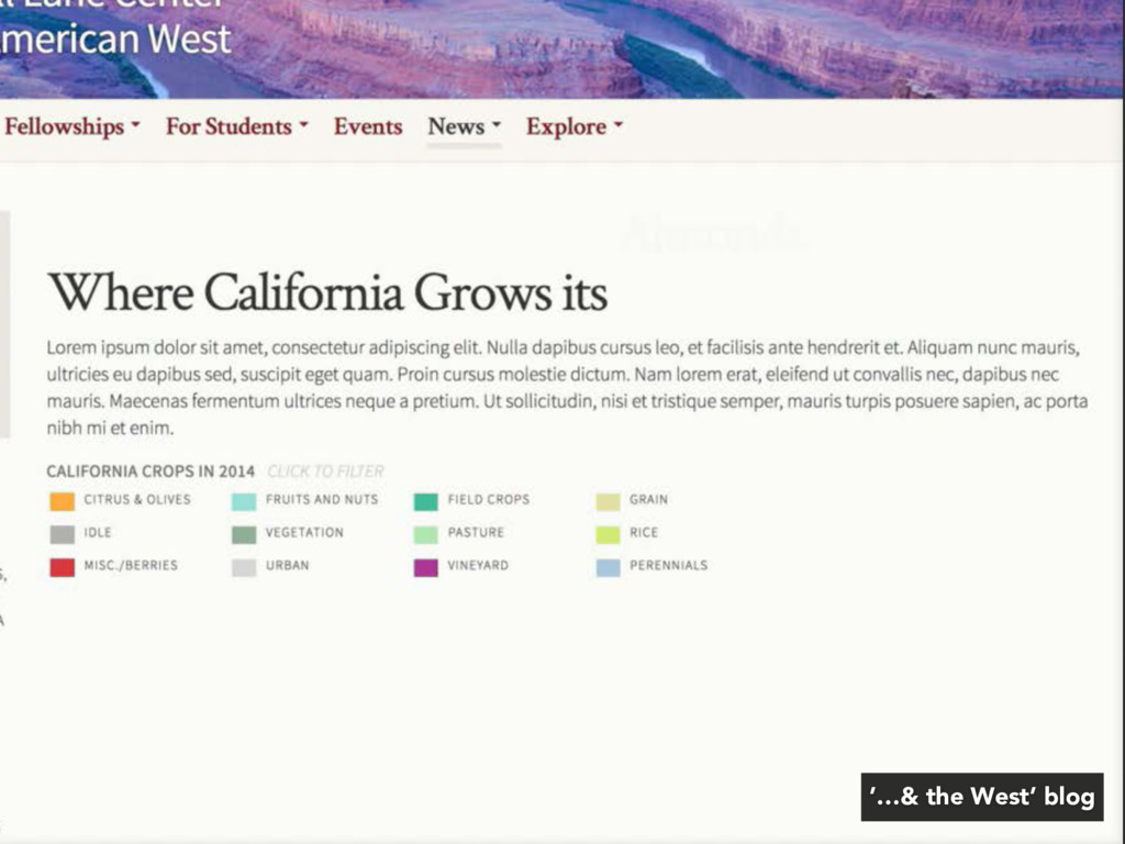 CA Crops '…& the West' blog