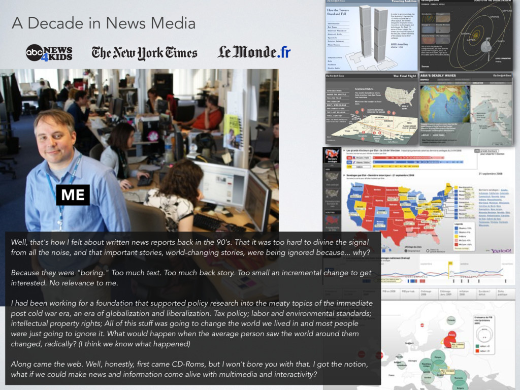 A Decade in News Media ME Well, that's how I fe...