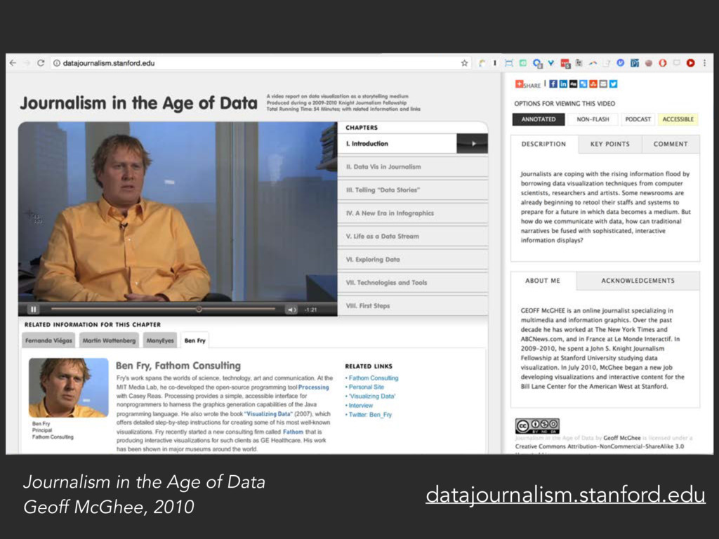 Journalism in the Age of Data Geoff McGhee, 201...