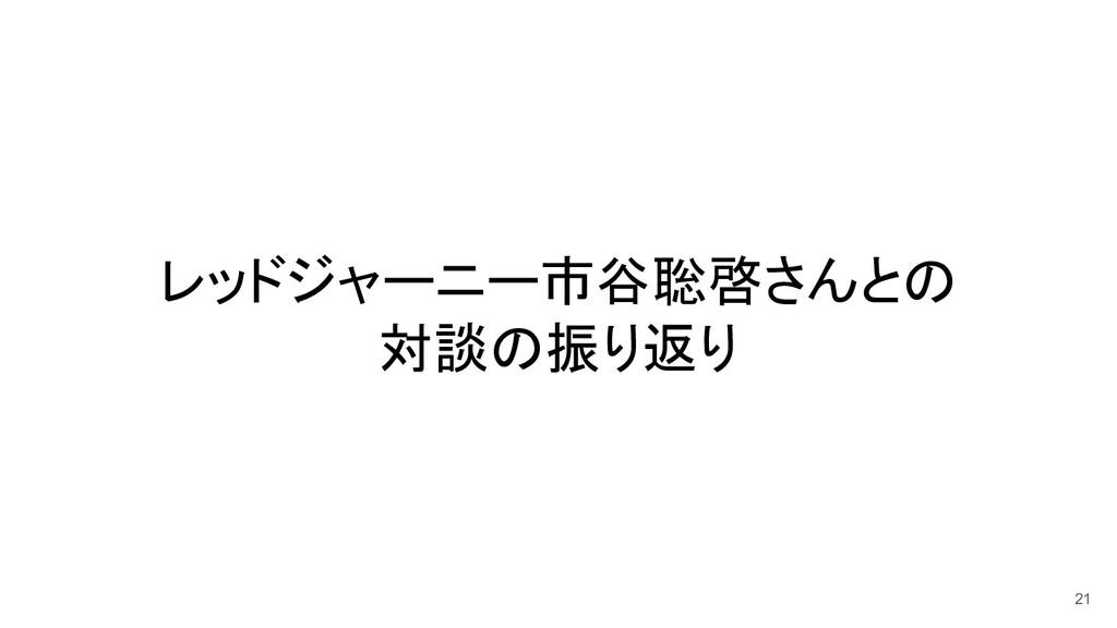 レッドジャーニー市谷聡啓さんとの 対談の振り返り 21