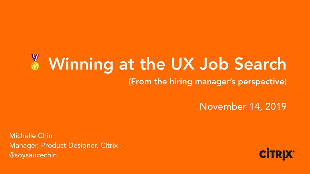 Winning at the UX Job Search (From the hiring ...