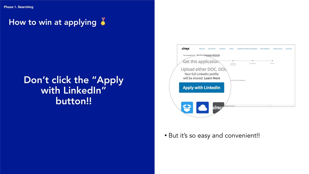 "How to win at applying  Don't click the ""Apply ..."