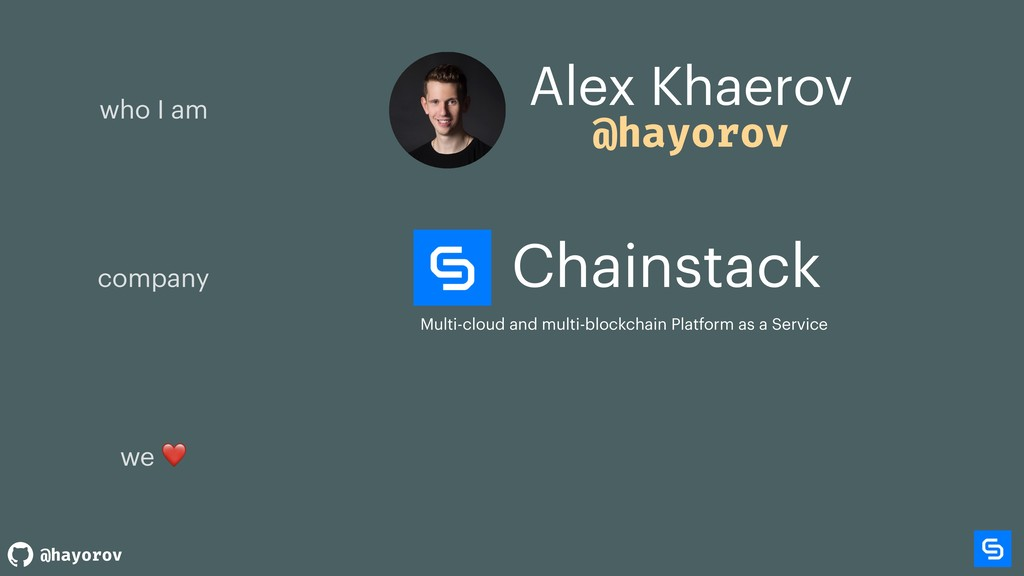 @hayorov Chainstack Multi-cloud and multi-block...