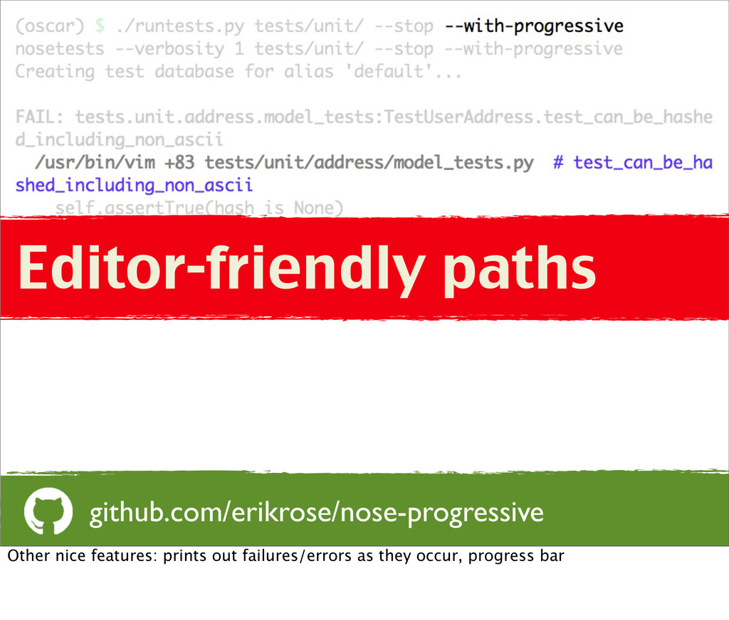 Editor-friendly paths github.com/erikrose/nose-...