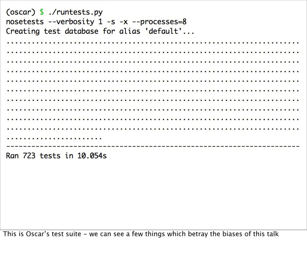 This is Oscar's test suite - we can see a few t...