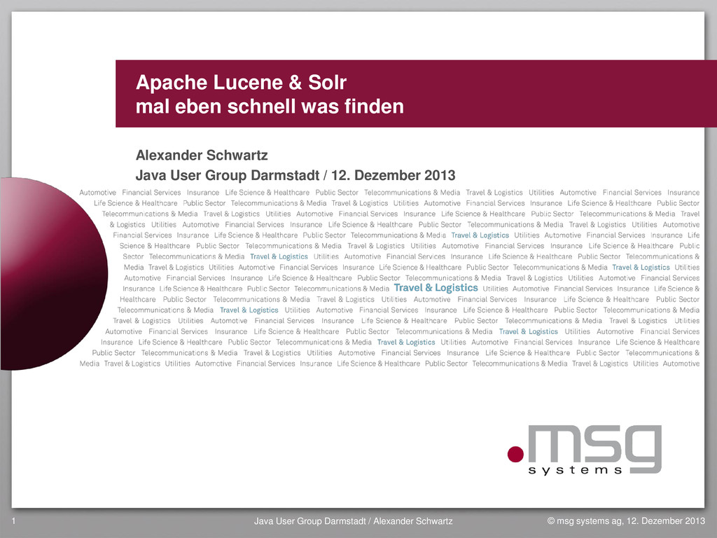 Apache Lucene & Solr mal eben schnell was finde...