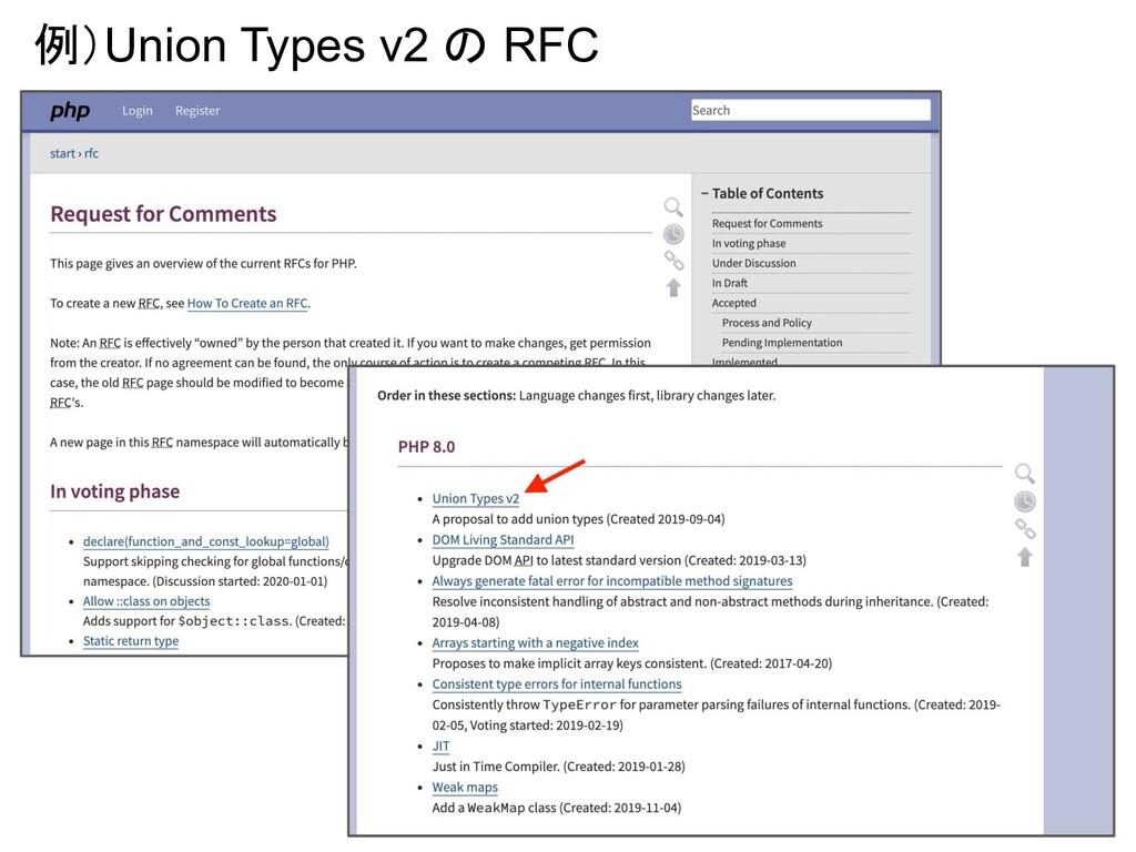 16 例)Union Types v2 の RFC