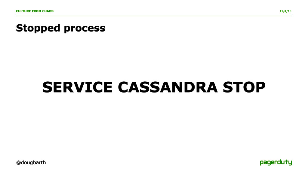 11/4/15 CULTURE FROM CHAOS SERVICE CASSANDRA ST...