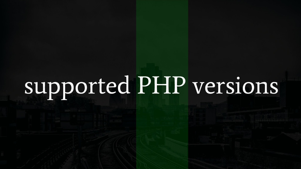 supported PHP versions