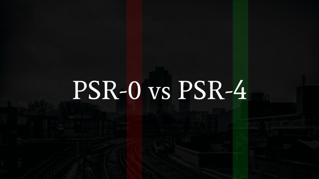 PSR-0 vs PSR-4