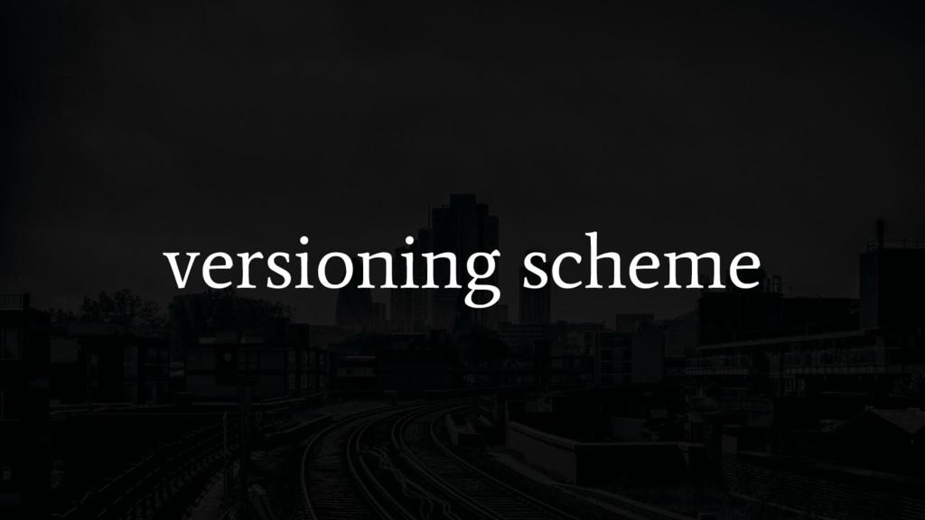 versioning scheme
