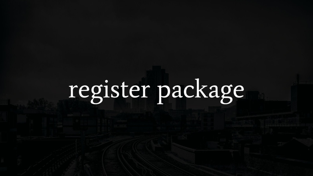 register package