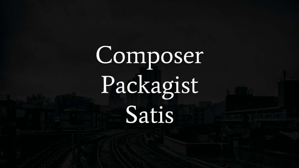 Composer Packagist Satis