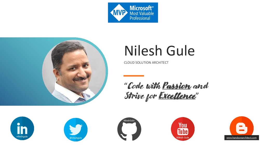 "Nilesh Gule CLOUD SOLUTION ARCHITECT ""Code with..."