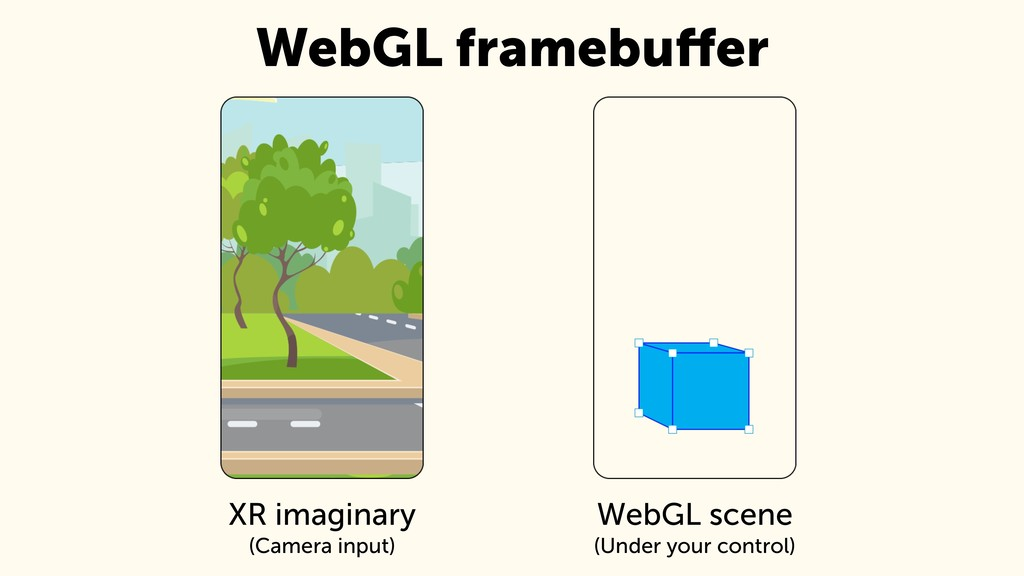 WebGL scene (Under your control) XR imaginary