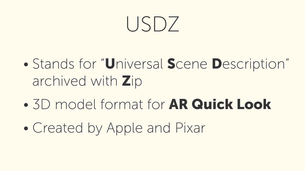 "• Stands for ""Universal Scene Description"" arch..."