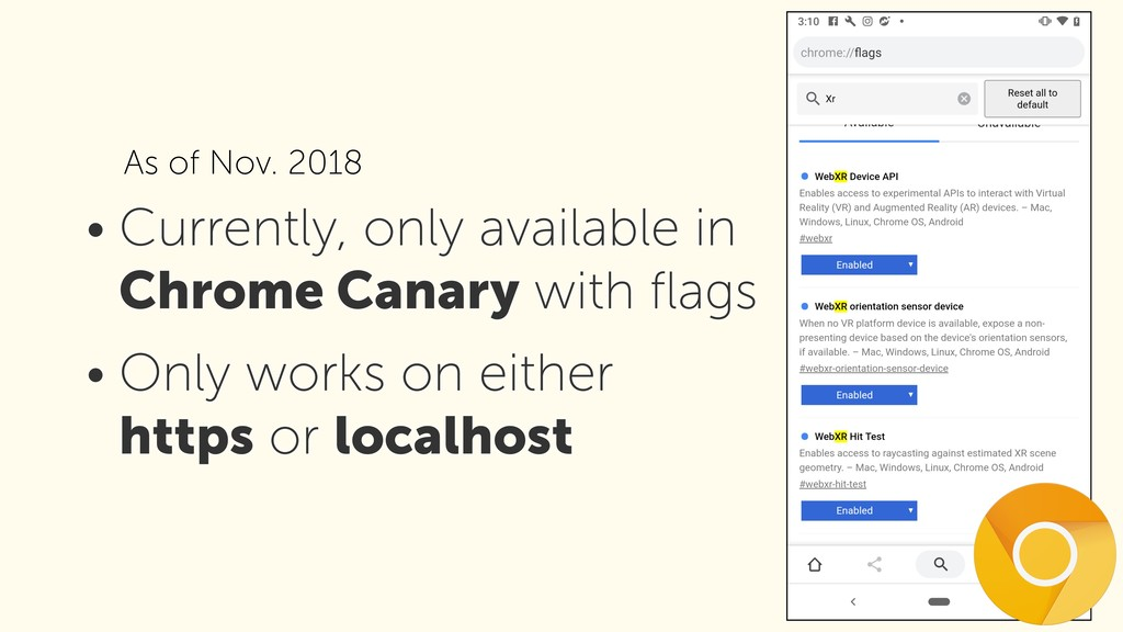 • Currently, only available in