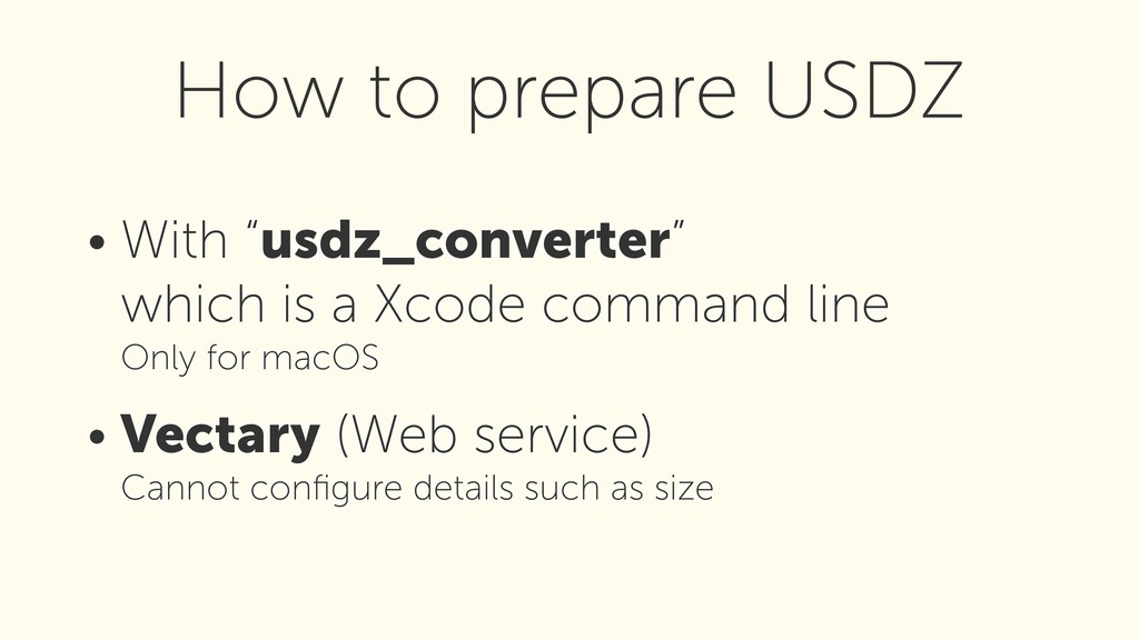 "• With ""usdz_converter""