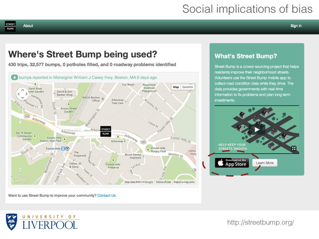 http://streetbump.org/ Social implications of b...