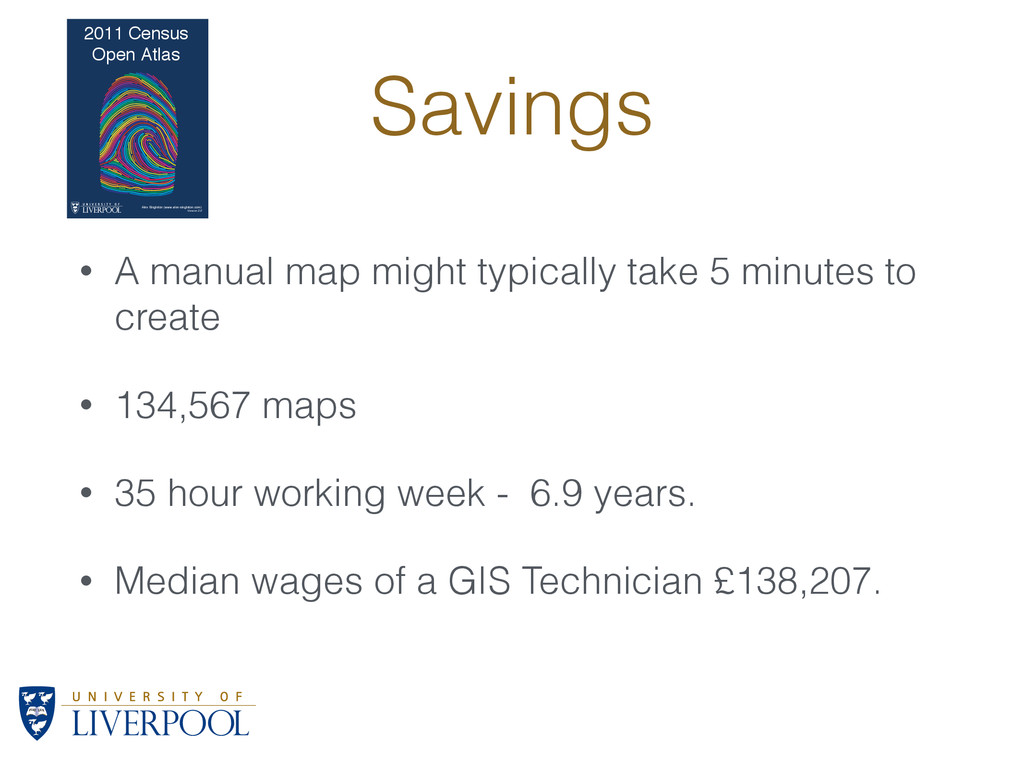 Savings • A manual map might typically take 5 m...
