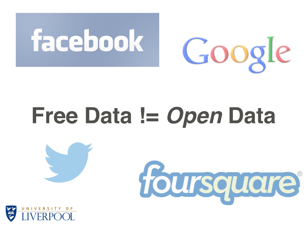 Free Data != Open Data