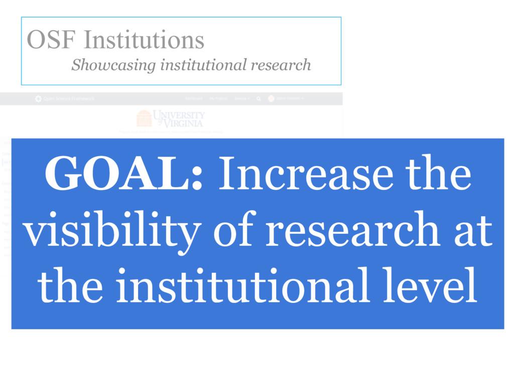 OSF Institutions Showcasing institutional resea...