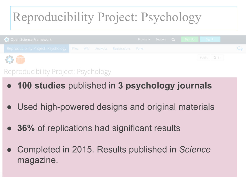 Reproducibility Project: Psychology ● 100 studi...