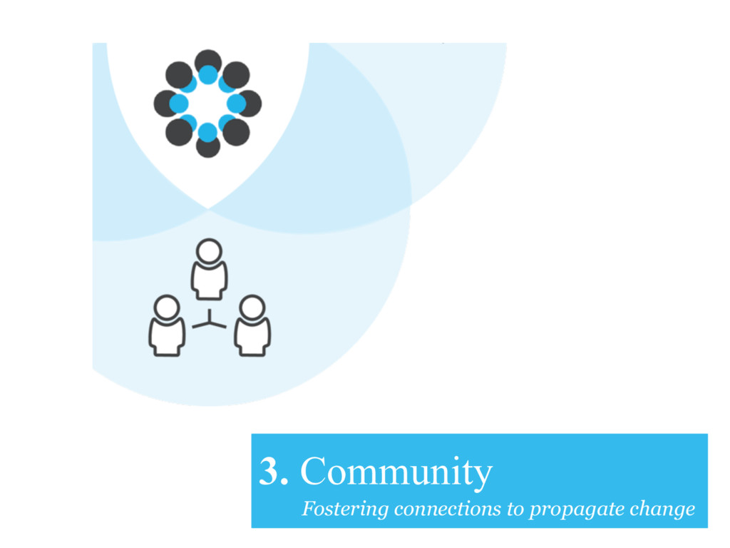 3. Community Fostering connections to propagate...