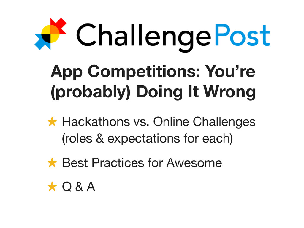 App Competitions: You're (probably) Doing It Wr...
