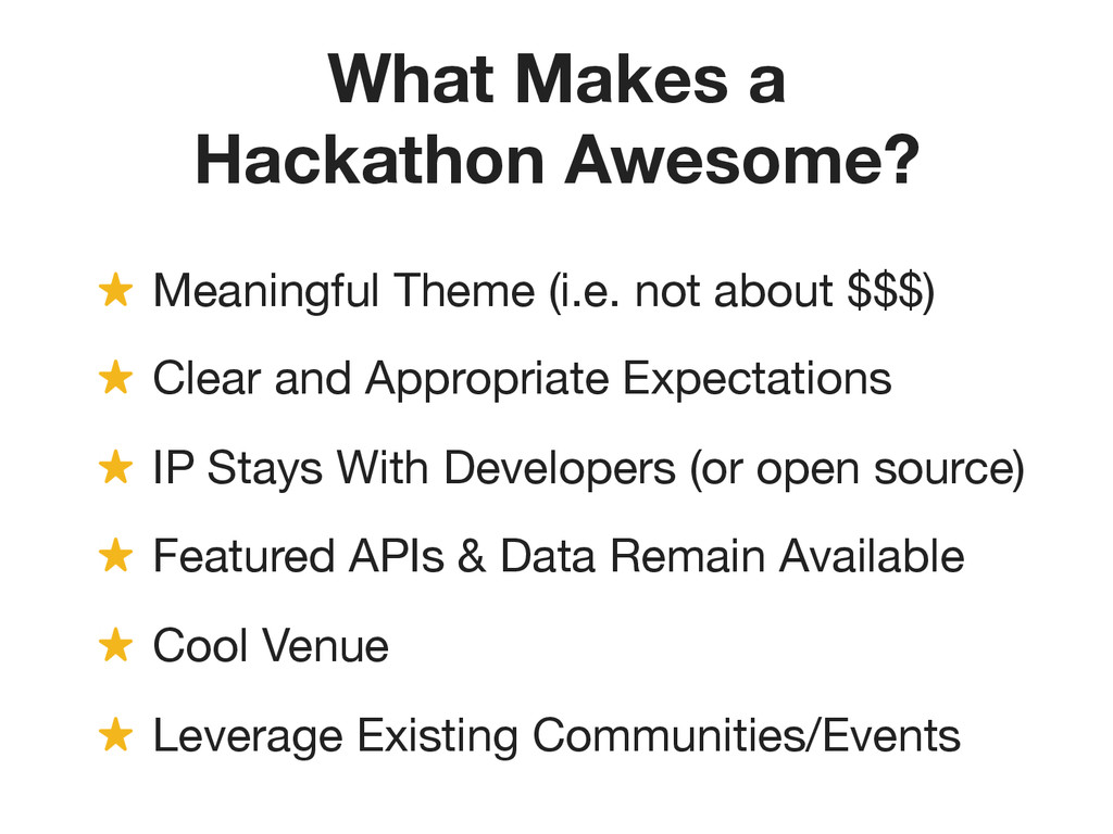 What Makes a Hackathon Awesome? ! Meaningful T...
