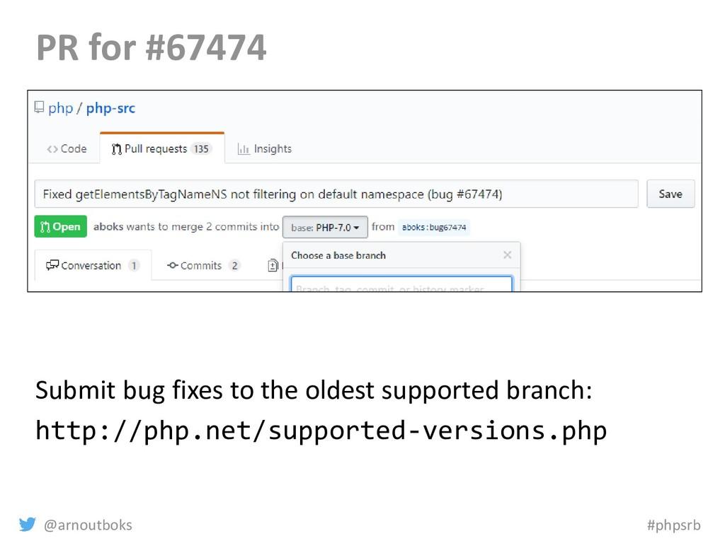 @arnoutboks #phpsrb PR for #67474 Submit bug fi...
