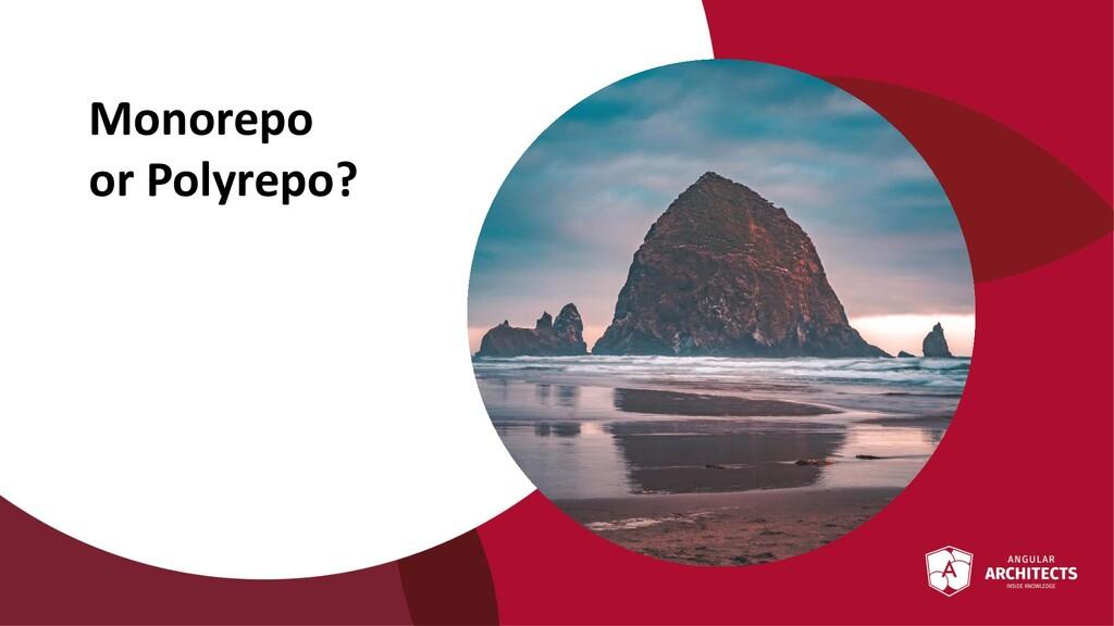 @ManfredSteyer Monorepo or Polyrepo?