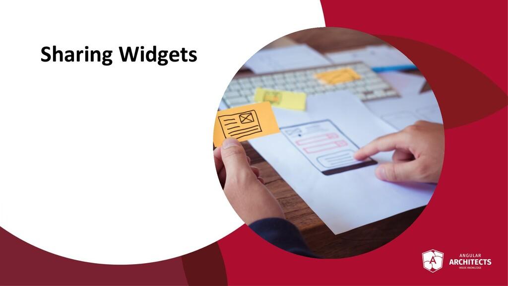 @ManfredSteyer Sharing Widgets