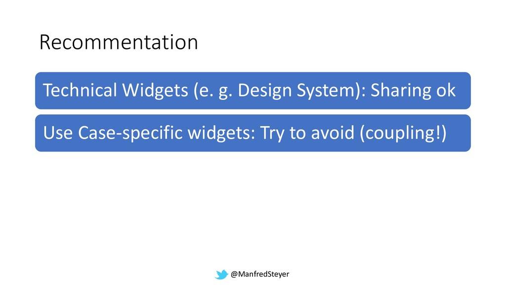 @ManfredSteyer Recommentation Technical Widgets...