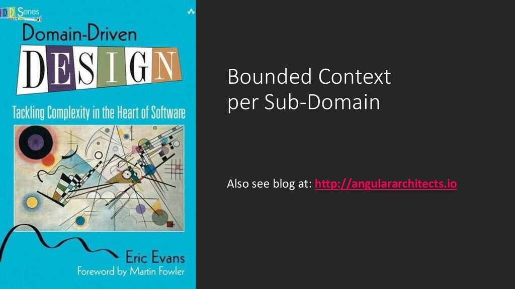 @ManfredSteyer Bounded Context per Sub-Domain A...