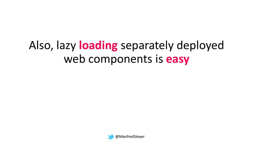 @ManfredSteyer Also, lazy loading separately de...
