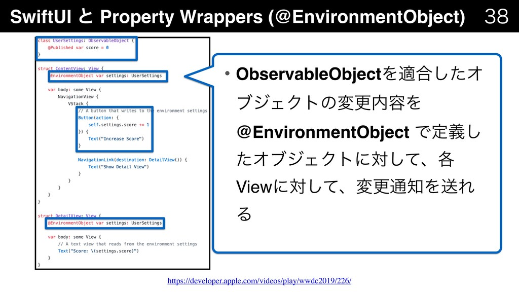 SwiftUI ͱ Property Wrappers (@EnvironmentObject...