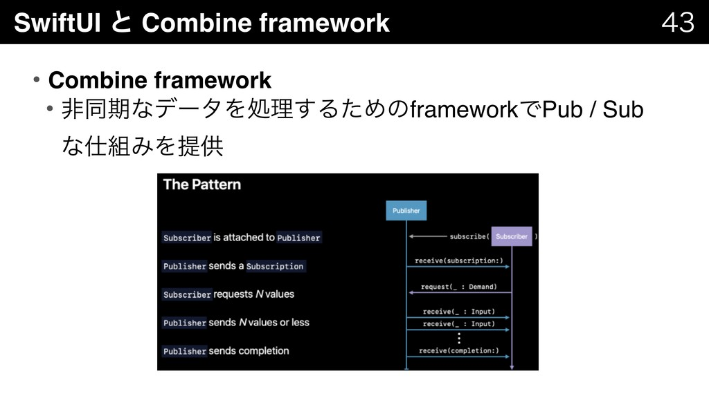 SwiftUI ͱ Combine framework   • Combine fram...