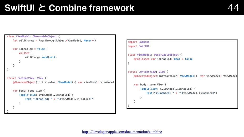 SwiftUI ͱ Combine framework   https://develo...
