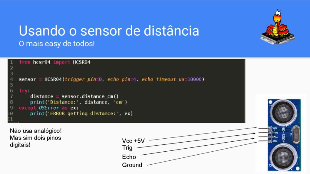 Usando o sensor de distância O mais easy de tod...
